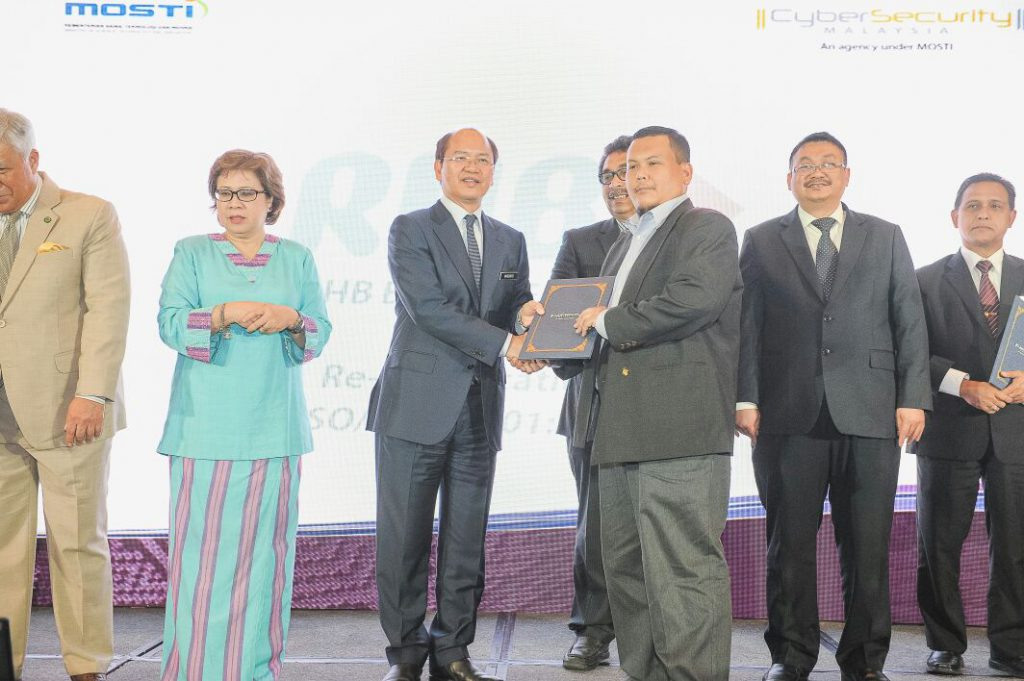 Award Certification by Cybersecurity Malaysia